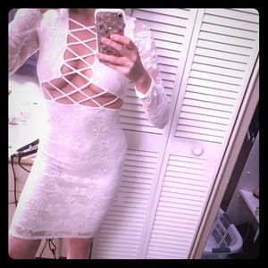 Super sexy lace up dress